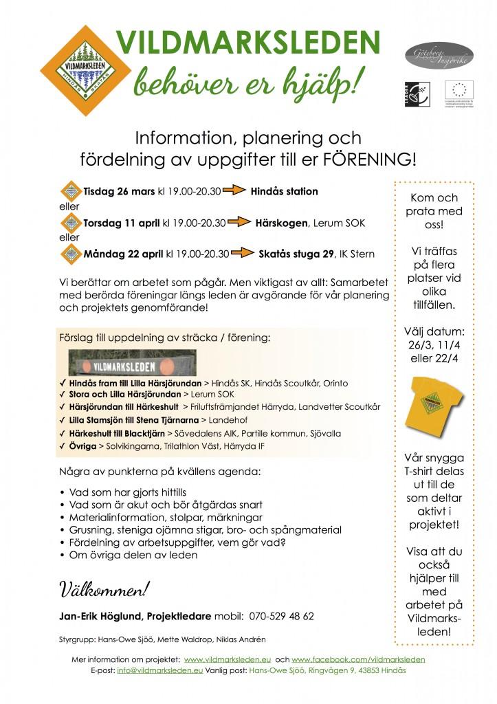Vildmarksleden informationsmöten våren 2013