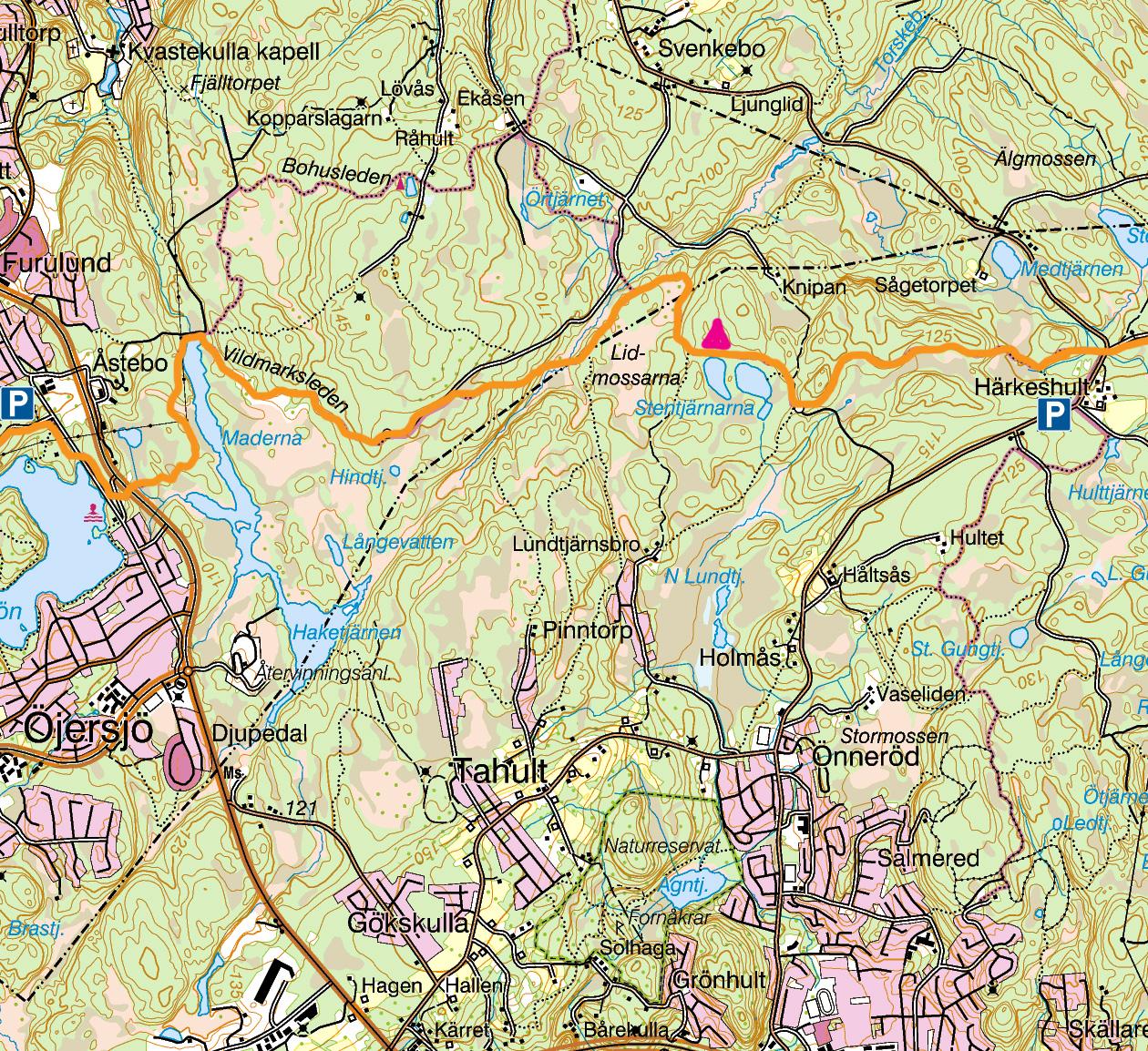Karta Kåsjön - Härkeshult